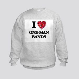 I love One-Man Bands Kids Sweatshirt