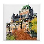 Frontenac Castle Quebec City Tile Coaster