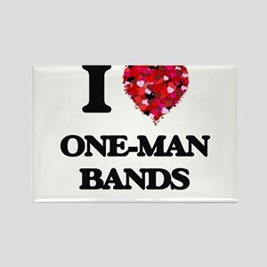 I love One-Man Bands Magnets