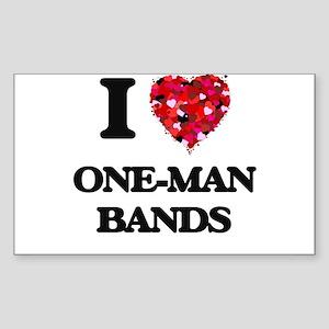 I love One-Man Bands Sticker