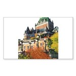 Frontenac Castle Quebec City Rectangle Sticker