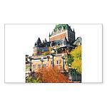 Frontenac Castle Quebec City Rectangle Sticker