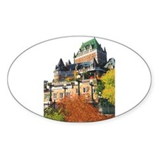 Frontenac Castle Quebec City Oval Sticker