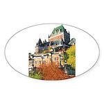 Frontenac Castle Quebec City Oval Sticker