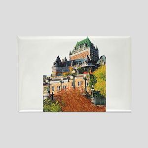 Frontenac Castle Quebec City Rectangle Magnet