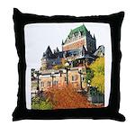 Frontenac Castle Quebec City Throw Pillow