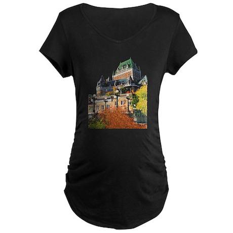 Frontenac Castle Quebec City Maternity Dark T-Shir