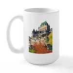 Frontenac Castle Quebec City Large Mug
