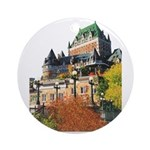 Frontenac Castle Quebec City Ornament (Round)
