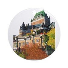 Frontenac Castle Quebec City Ornament (Round)