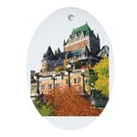 Frontenac Castle Quebec City Oval Ornament
