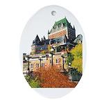 Frontenac Castle Quebec City Oval Ornament