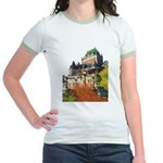 Frontenac Castle Quebec City Jr. Ringer T-Shirt