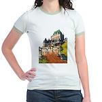 Frontenac Castle Quebec City Jr. Ringer T-Shirt