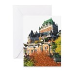 Frontenac Castle Quebec City Greeting Cards (Pk of