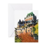 Frontenac Castle Quebec City Greeting Card