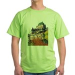 Frontenac Castle Quebec City Green T-Shirt