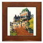 Frontenac Castle Quebec City Framed Tile