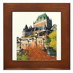 Frontenac Castle Quebec City Framed Tile
