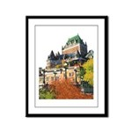 Frontenac Castle Quebec City Framed Panel Print