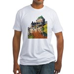Frontenac Castle Quebec City Fitted T-Shirt