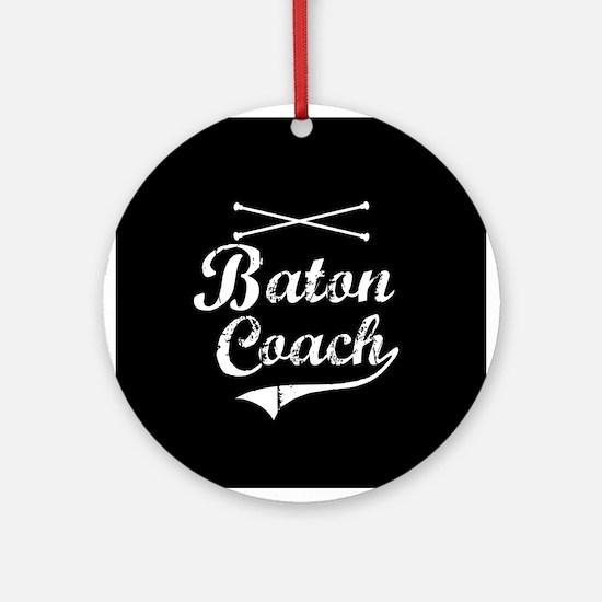 Baton Coach Ornament (Round)