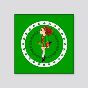 "Irish Dancing Square Sticker 3"" X 3"""