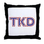 TKD Taekwondo Throw Pillow