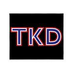 Taekwondo Tkd Throw Blanket
