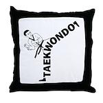 Taekwondo Kicker Throw Pillow