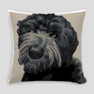 Black Russian Terrier Everyday Pillow