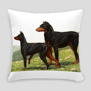 Manchester Terrier Doberman Everyday Pillow