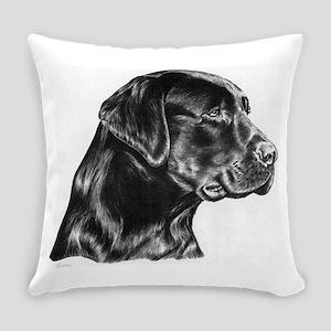 Black Lab Everyday Pillow