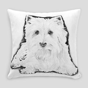 Highland White Terrier Everyday Pillow