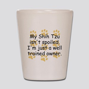Well Trained Shih Tzu Owner Shot Glass