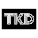 White Lines TKD Sticker