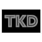 White Lines TKD Stickers 10 pack