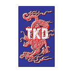 TKD Dragon Blue Sticker