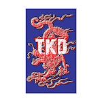 TKD Dragon Blue Stickers 10 pack
