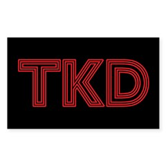 Red Lines TKD Decal
