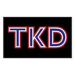 American TKD Black Stickers 10 pack