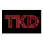 Red Line TKD Stickers 10 pack