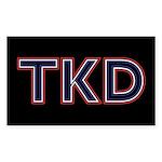 TKD Black Sticker