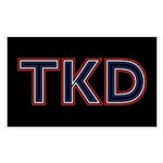 TKD Black Stickers 10 pack