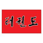 Tae Kwon Do Sticker (Rectangle)