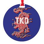 Taekwondo Dragon Round Ornament