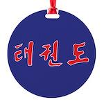 TaeKwonDo Korean Round Ornament