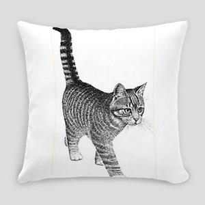 Tabby Cat Everyday Pillow