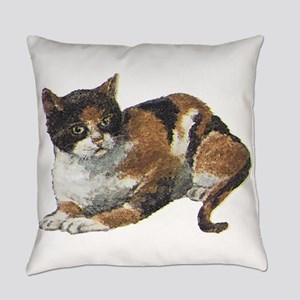 Calico Cat Everyday Pillow