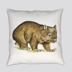 Wombat drawing Everyday Pillow